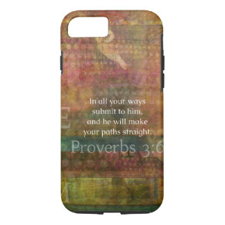 Proverbs 3:6: Inspirational Bible Verse iPhone 7 Case