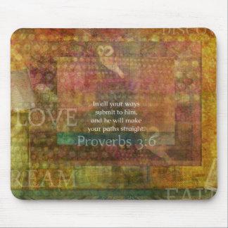 Proverbs 3:6: Inspirational Bible Verse Mouse Pad