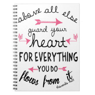 Proverbs 4:23 Notebook/Journal Spiral Notebook