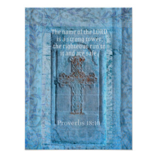Proverbs  Encouraging Biblical Verse Holy Bible Poster