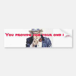 Provide for your own kid bumper sticker