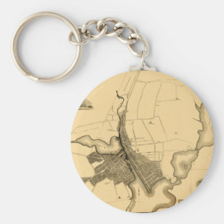 providence1823 basic round button keychain