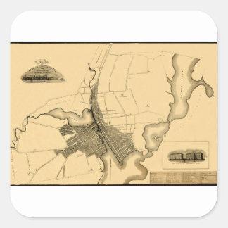 Providence 1823 square sticker