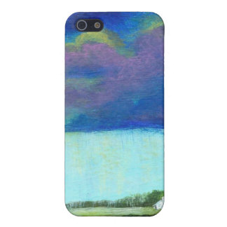 Providence Abstract Folk Art Landscape Painting iPhone 5 Covers