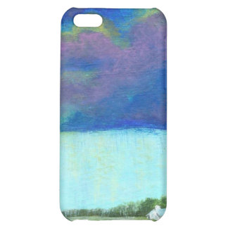 Providence Abstract Folk Art Landscape Painting Case For iPhone 5C