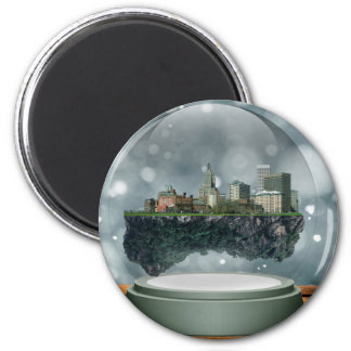 Providence Island Snow Globe 2 Inch Round Magnet