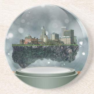 Providence Island Snow Globe Coasters