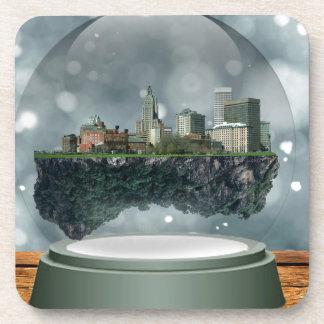 Providence Island Snow Globe Drink Coaster