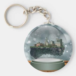 Providence Island Snow Globe Keychain