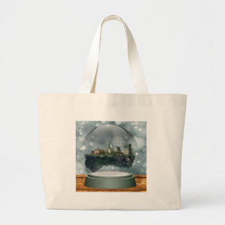 Providence Island Snow Globe Large Tote Bag