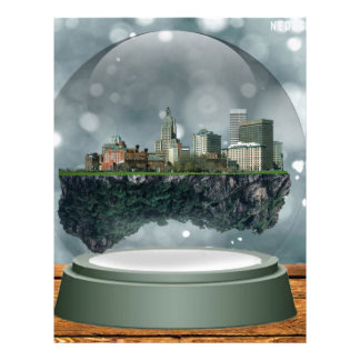 Providence Island Snow Globe Letterhead