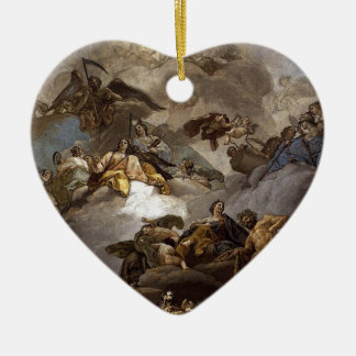 Providence Presiding over Virtues and Faculties Ceramic Heart Ornament