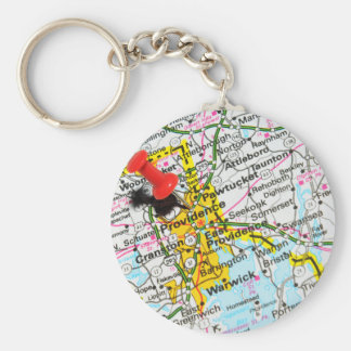 Providence, Rhode Island Basic Round Button Keychain