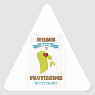 Providence, Rhode Island Map – Home Is Where Triangle Sticker