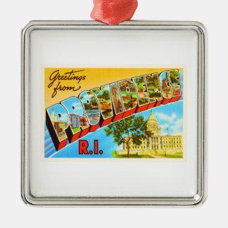 Providence Rhode Island RI Vintage Travel Souvenir Metal Ornament