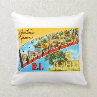 Providence Rhode Island RI Vintage Travel Souvenir Throw Pillow