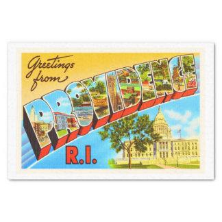 Providence Rhode Island RI Vintage Travel Souvenir Tissue Paper