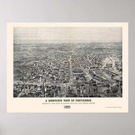 Providence, RI Panoramic Map - 1894 Poster