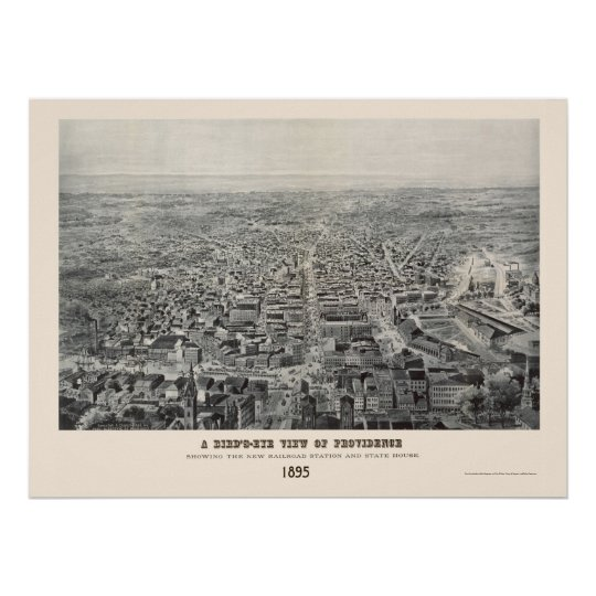 Providence, RI Panoramic Map - 1894 Poster