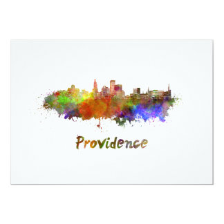 Providence skyline in watercolor card