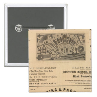 Providence Tool and Forge and Nut Company 2 Inch Square Button