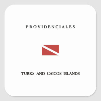 Providenciales Turks and Caicos Islands Scuba Dive Sticker