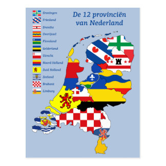 Province flag on folder the Netherlands Postcard