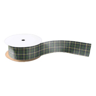 Province of Alberta Canada Tartan Satin Ribbon