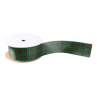 Province of Newfoundland Canada Tartan Satin Ribbon