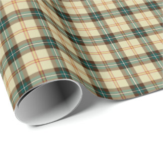 Province of Saskatchewan Canada Tartan Wrapping Paper