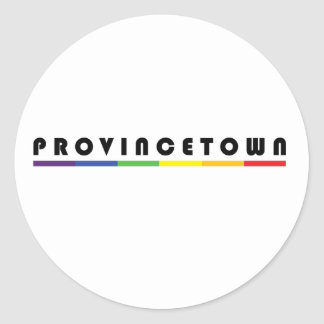 Provincetown Classic Round Sticker