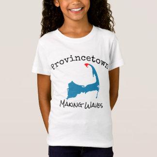 Provincetown Mass Making Waves kid's, girl's shirt