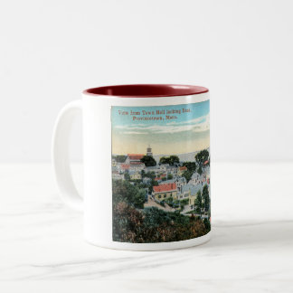 Provincetown, Massachusetts, Bird's Eye, Vintage Two-Tone Coffee Mug
