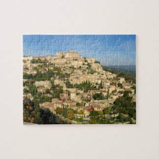 Provincial hill town shimmers in the morning light jigsaw puzzle