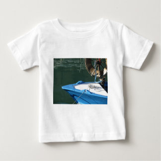 Prow of a wooden fishing boat with trawl winch baby T-Shirt
