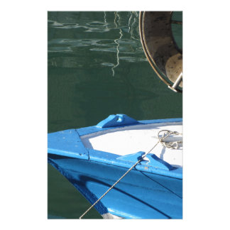 Prow of a wooden fishing boat with trawl winch stationery