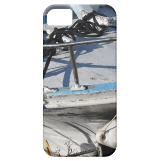 Prow of fishing boat moored in the harbor iPhone 5 case