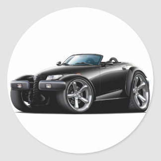 Prowler Black Car Classic Round Sticker