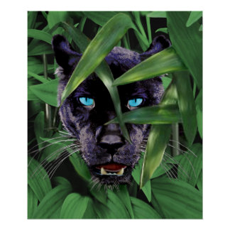 PROWLING PANTHER POSTER