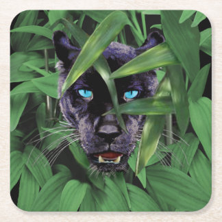 PROWLING PANTHER SQUARE PAPER COASTER