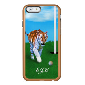 Prowling Tiger and Golf Ball, Monogram Incipio Feather® Shine iPhone 6 Case