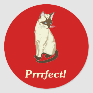 Prrrfect! Round Sticker