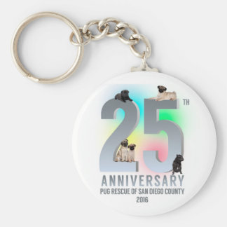 PRSDC 25th Anniversary Tees, GIfts Basic Round Button Keychain