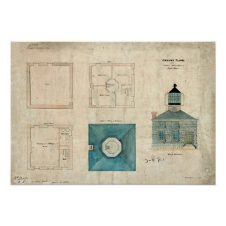 Prudence Island Lighthouse Plan - Rhode Island Poster