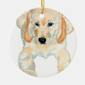 Prudence the English Retriever Pup Ceramic Ornament