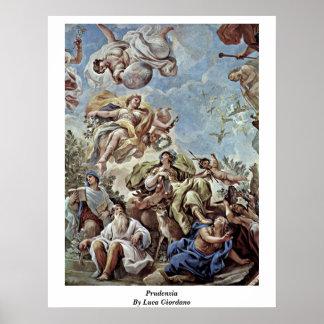 Prudenzia By Luca Giordano Poster