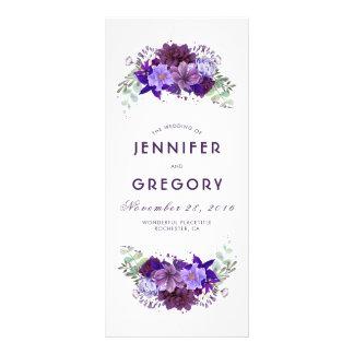 Prune et programmes floraux pourpres violets de