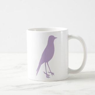 pruple bird coffee mug