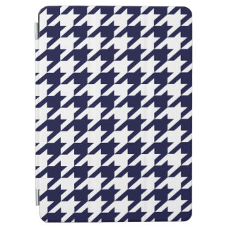Prussian Blue Moods Houndstooth iPad Air Cover