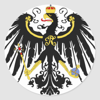 Prussian Eagle Round Sticker